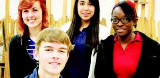 2014 State VASE Qualifiers from Forney High School. From left to right: Lydia Bruce, Elam Bruce, Jocelyn Castellanos and Jedidiah Talom. Not pictured is Sarah (Rii) Huynh.